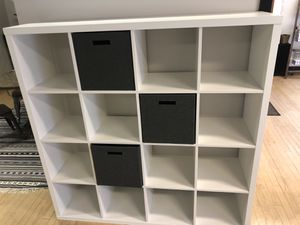 "KALLAX Shelf unit, white, 57 7/8x57 7/8 "" for Sale in Tacoma, WA"
