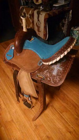 Teal 15in Barrel Saddle for Sale in Delaware, OH