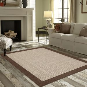Area Rug Decoration 2 Color for Living Room, Dining Room, Office Bedroom, Cream Black Brown Bordered for Sale in Bluffdale, UT