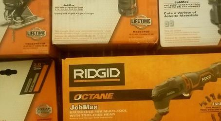 18-Volt OCTANE Cordless Brushless JobMax Multi-Tool with 3 Additional Head Attachments/Battery, New! for Sale in Englewood,  CO