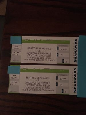 Seahawks vs Arizona Cardinals 2 tickets for Sale in Issaquah, WA