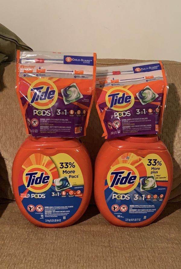 $50 laundry set (2) 96ct (2) 16ct