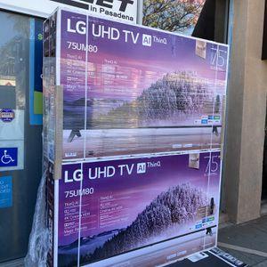 75 INCH LG TV UHD AI THIN Q SMART 4K TV 8 SERIES TVS HUGE SALE for Sale in Burbank, CA