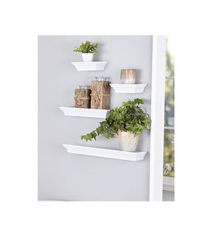 4-Pc. Classic Floating Wall Shelf Sets - White for Sale in Queens, NY