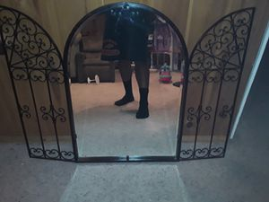 Mirror with iron design open door for Sale in Denver, CO