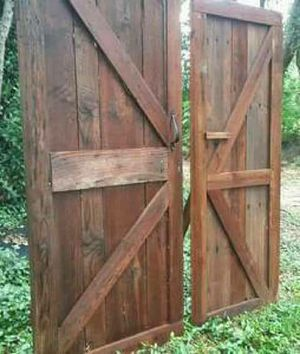 Handcrafted barn doors *$250 pair* for Sale in Austin, TX