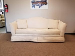 Vintage Camel Back Couch with Throw Pillows for Sale in Denver, CO