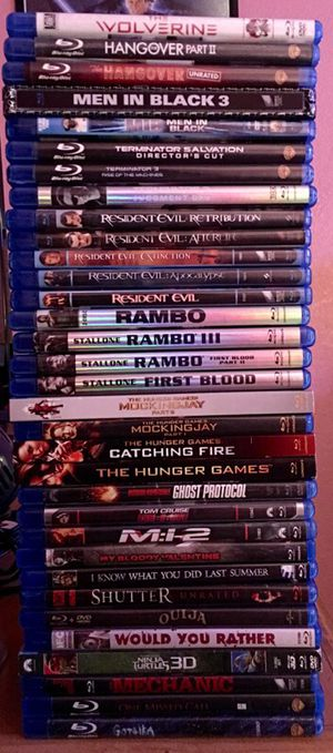 BLU RAY MOVIES for Sale in Fort McDowell, AZ