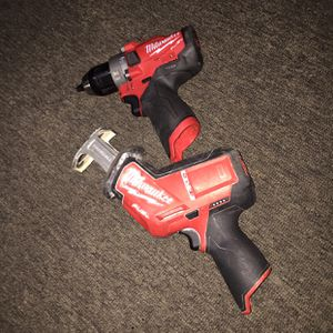 On sale milwakee 12 v hackzall & 12 v hammer drill good conditions $$$140 dollars in oakland for Sale in Oakland, CA