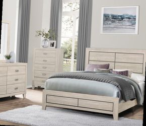 Queen Bed Frame Dresser Mirror One Night Stand for Sale in Pomona,  CA