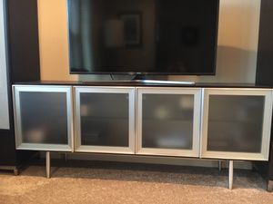 Dania wengewood, frosted glass and metal storage console for Sale in Portland, OR