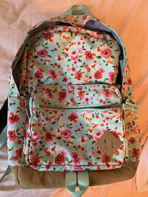 Aqua Green Floral Backpack for Sale in Escondido, CA