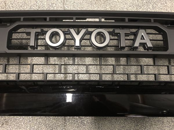 2014-2018 Toyota Tundra TRD Pro Style Front Upper Bumper Grill Grille Cover w/ Emblem