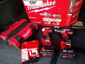 Milwaukee hammer drill and impact M18 brushless for Sale in San Bernardino, CA