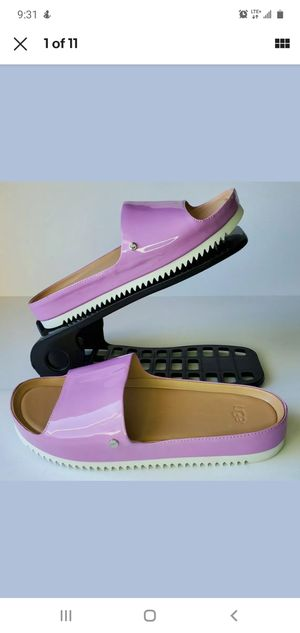 NEW WOMENS SIZE 6 PRICKLY ROSE UGG JANE PATENT 1101071 PLATFORM SANDALS SLIDE for Sale in Los Angeles, CA