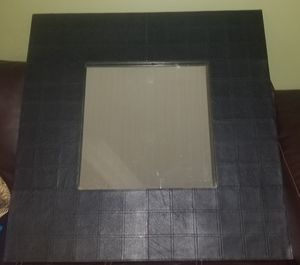 Very sturdy black leather mirror for Sale in Lexington, KY