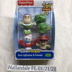 Fisher-Price Little People Toy Story 4 Buzz Forky Rex Jessie Set for Sale in Aventura, FL
