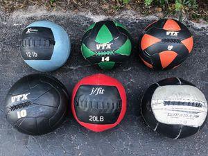 WALL BALLS. : 12 lb. are $40_____ 14 lb. are $45_____16 lb. are $50____ 20 lb. are $50 for Sale in Deerfield Beach, FL