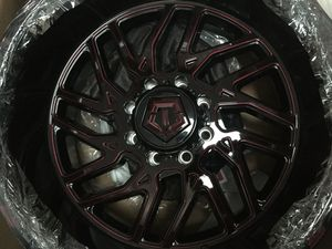 Tis 544 rims black and Burgundy 22x12 for dodge hbd for Sale in Altadena, CA