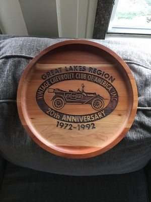 Great lakes solid wood anniversary car plaque $35 for Sale in Varna, IL
