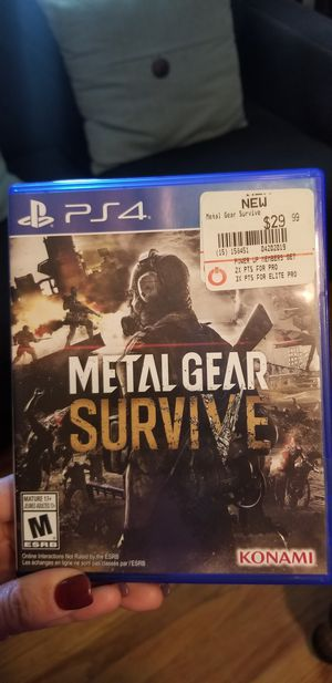 Ps4 metal gear for Sale in Knoxville, TN
