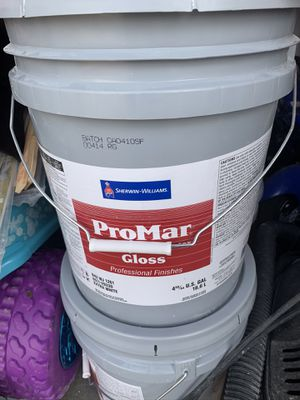 Semi gloss white one bucket of 5 gallons for Sale in North Las Vegas, NV