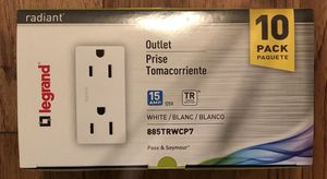 Legrand Radiant 15 Amp Outlet TR. 10 Pk. White. for Sale in Los Angeles, CA
