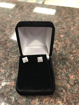10k diamond earrings for Sale in Austin, TX