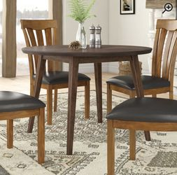 Brown Solid Wood Wayfair Dining Table + Chairs for Sale in Woodinville,  WA