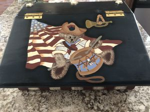 NEW Hand Painted Patriotic Wooden Keepsake Box for Sale in North Royalton, OH