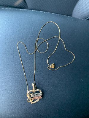 14K Gold Chain W/ 14K Gold Heart Pendant(Someone Special) for Sale in Brighton, CO