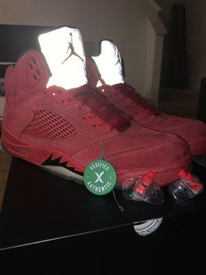 Jordan 5 retro red suede - size 10.5 men's for Sale in Odessa, FL