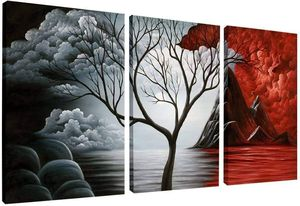 The Cloud Tree Wall Art Oil Painting, 3 Panels for Sale in Fremont, CA