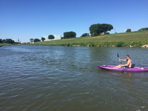 Emotion kayak with covered hull storage for Sale in Fort Worth, TX
