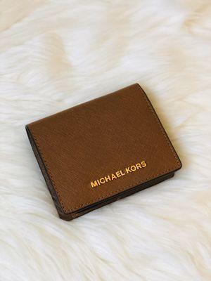 Michael Kors MK Brown Flap Card Holder/Purse/Wallet for Sale in Chandler, AZ