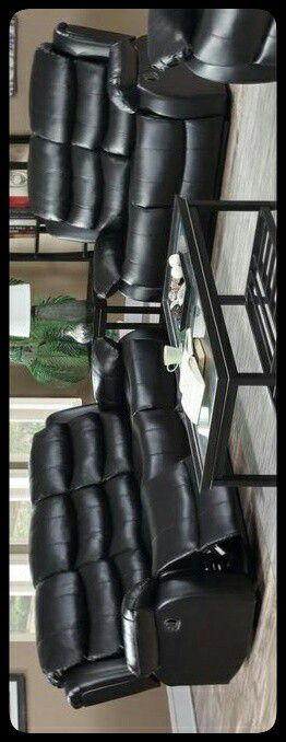 ✔RECLINING✔ GT Black Reclining Sofa & Loveseat for Sale in Brentwood, MD