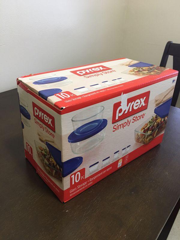 BRAND NEW Pyrex 10 piece set meal prep $20 OBO