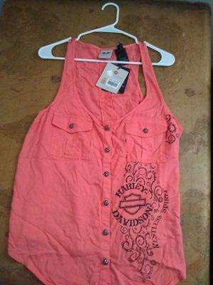 Harley davidson-open side, sleeveless shirt-large for Sale in Abilene, TX