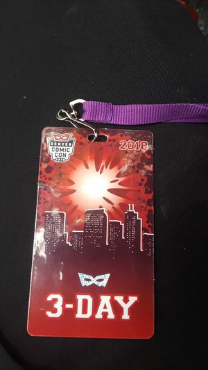 Comic con 3day for Sale in Denver, CO