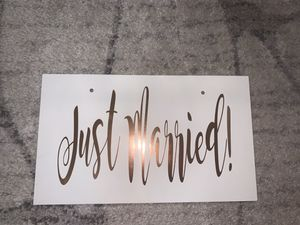 Wedding - Just Married Sign - Rose Gold for Sale in Fresno, CA