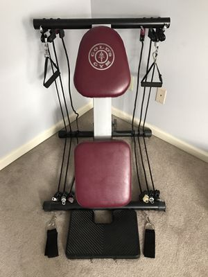 Gold's Gym workout bench with resistance bands for Sale in King of Prussia, PA
