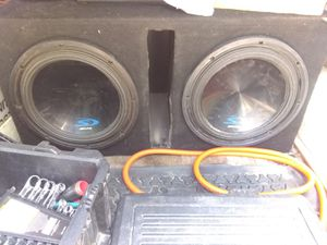 Alpine 12in subs in ported box for Sale in Houston, TX