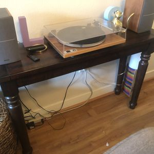 Brown Crate and Barrel console table for Sale in San Jose, CA