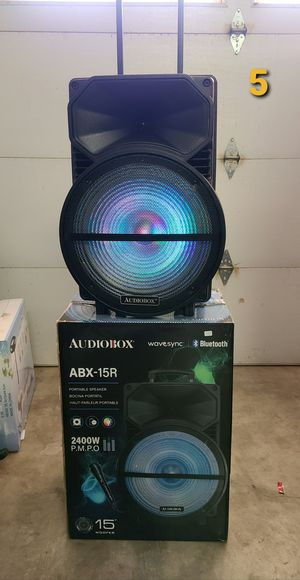 """New 15"""" woofers rechargeable 2,400 watts Bluetooth, aux, usb, fm radio ,microphone for Sale in Riverside, CA"""