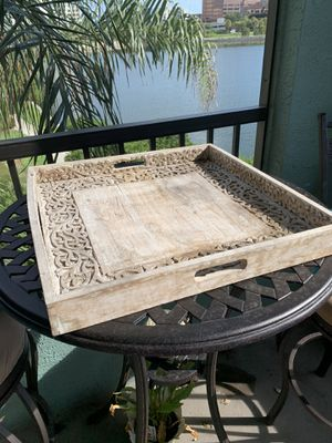 Pier One wooden tray for Sale in Tampa, FL