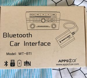 APPS2car car stereo Bluetooth adapter wireless music receiver AUX,USB interface for Sale in La Vergne, TN