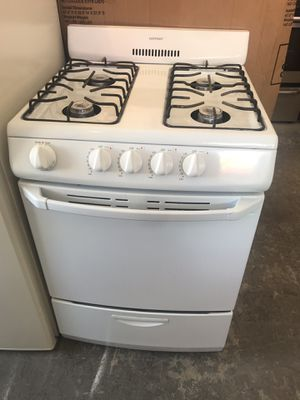 "Vertex Appliances. Sale& services. Used,24"" Hotpoint gas stove ,white color, electronic ignition , open burners, great condition for Sale in San Jose, CA"