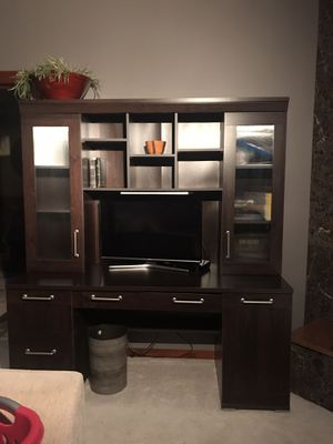 Desk with lots of shelves & storage for Sale in Fayetteville, AR
