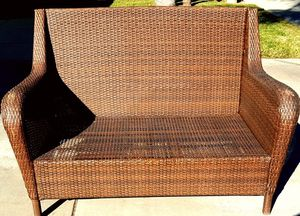 Wicker Patio Bench Loveseat for Sale in Moreno Valley, CA