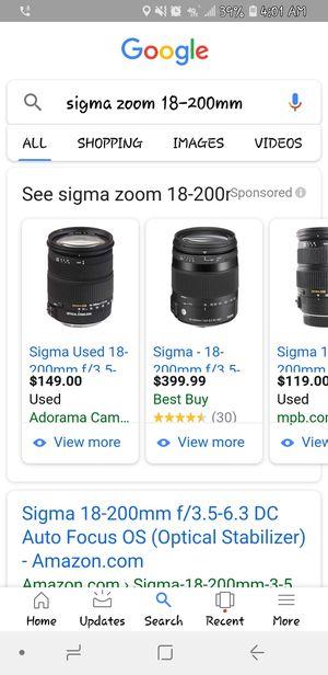 "Nikon d800 sigma lense 18-200 bundled with a mac book pro 2016 13"" 256gb for Sale in Austin, TX"